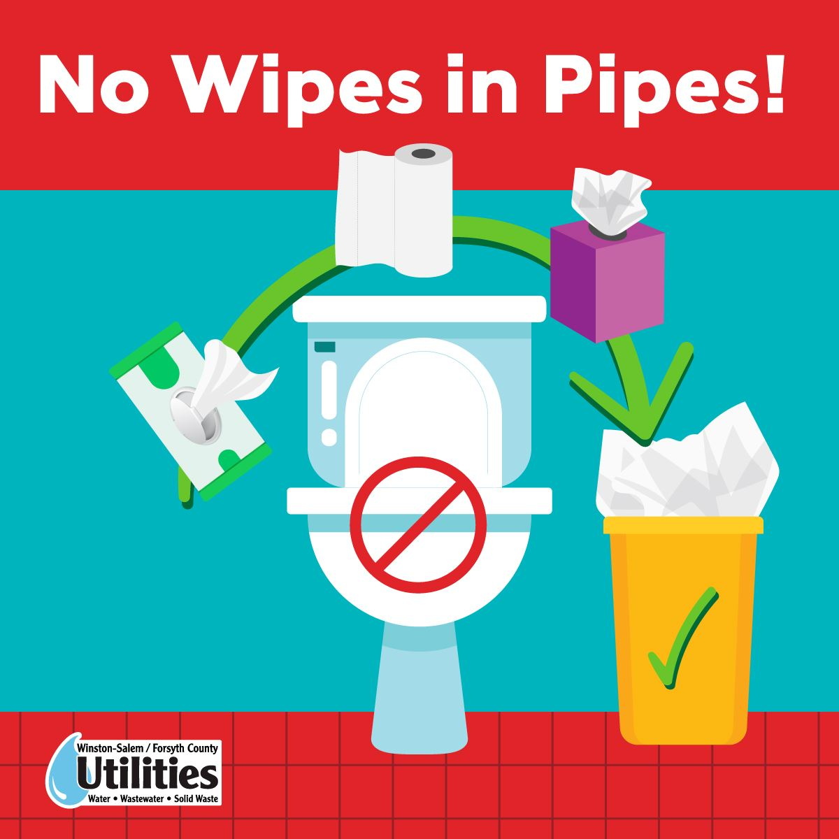 No Wipes in Pipes