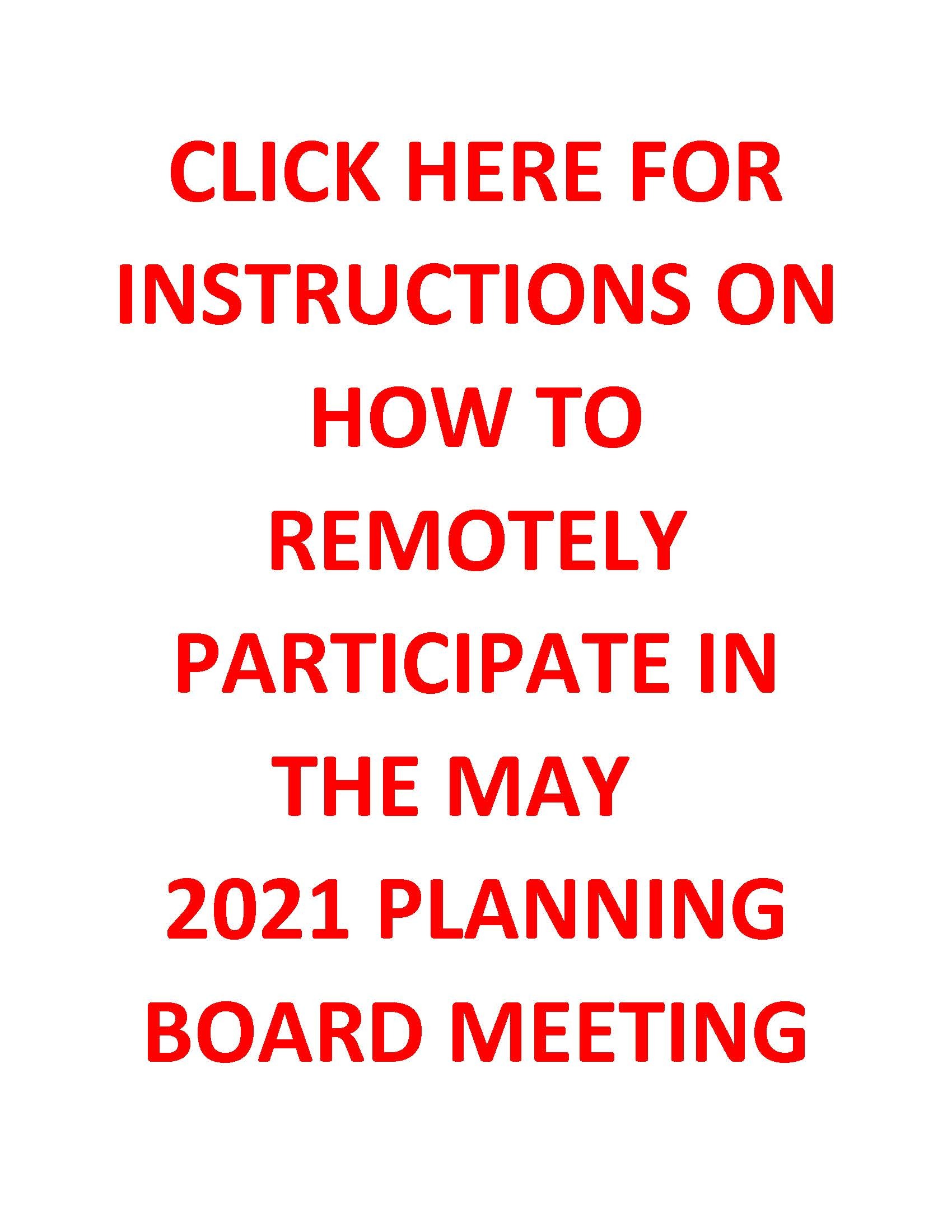May 2021 Meeting Instructions