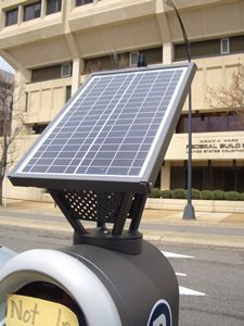 Solar Panel on Top of Parking Pay Station