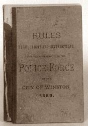 Rules, Regulations, and Instructions for the Winston Police Force 1889