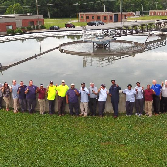 Archie Elledge Wastewater Treatment Plant staff-2017 award