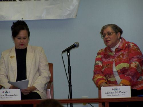Women on the Panel of the Forum Five at the Salvation Army (JPG) Opens in new window