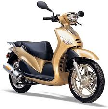 Gold Moped